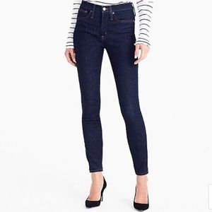 "JCrew 9"" High Rise Toothpick Jean in Classic Rinse"